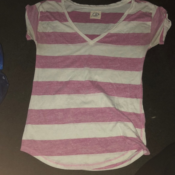 American Eagle Outfitters Tops - Pink and white American eagle shirt